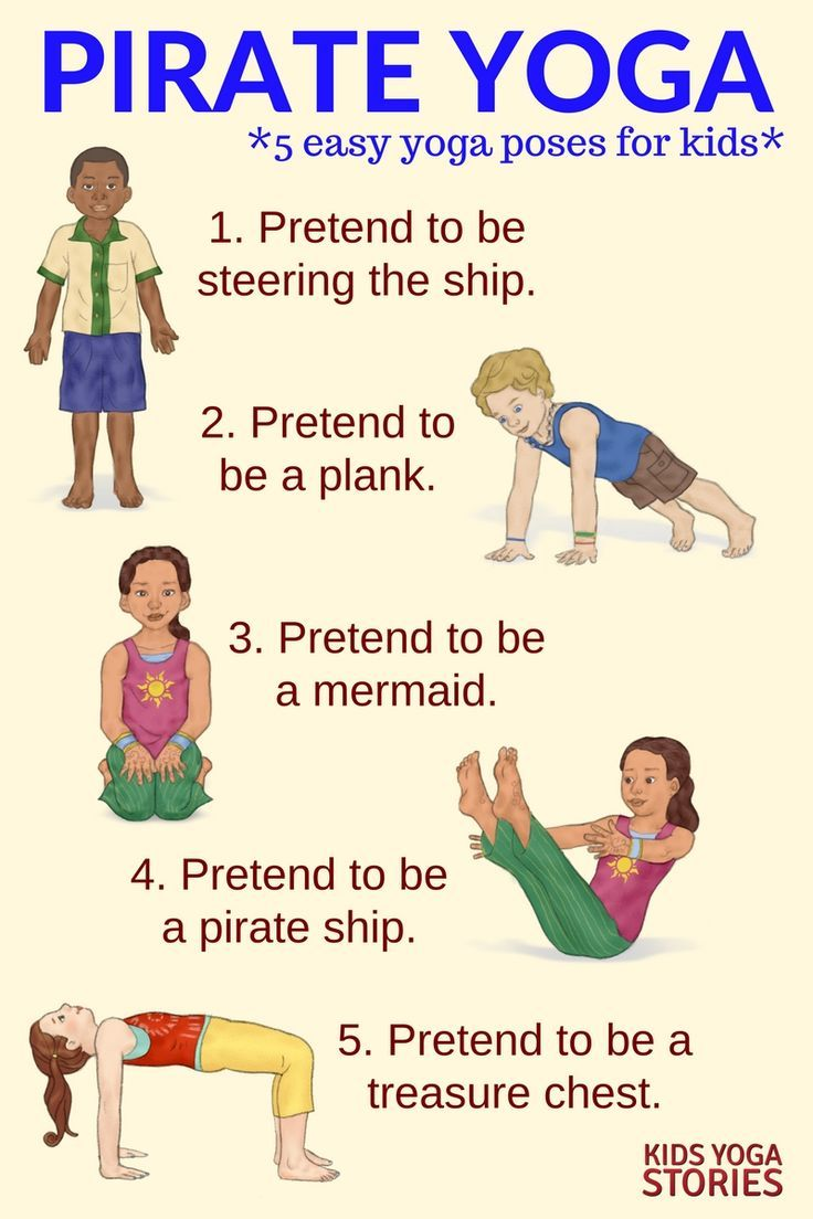 5 Pirate Yoga Poses for Kids - to explore the pirate world through movement | Ki...