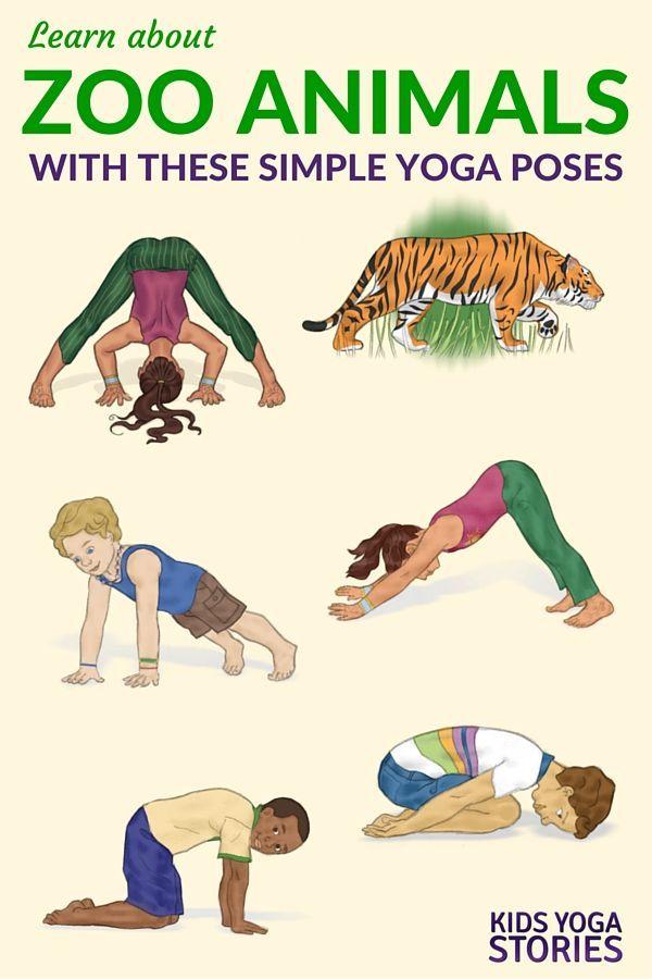 5 Zoo Yoga Poses for Kids (Printable Poster