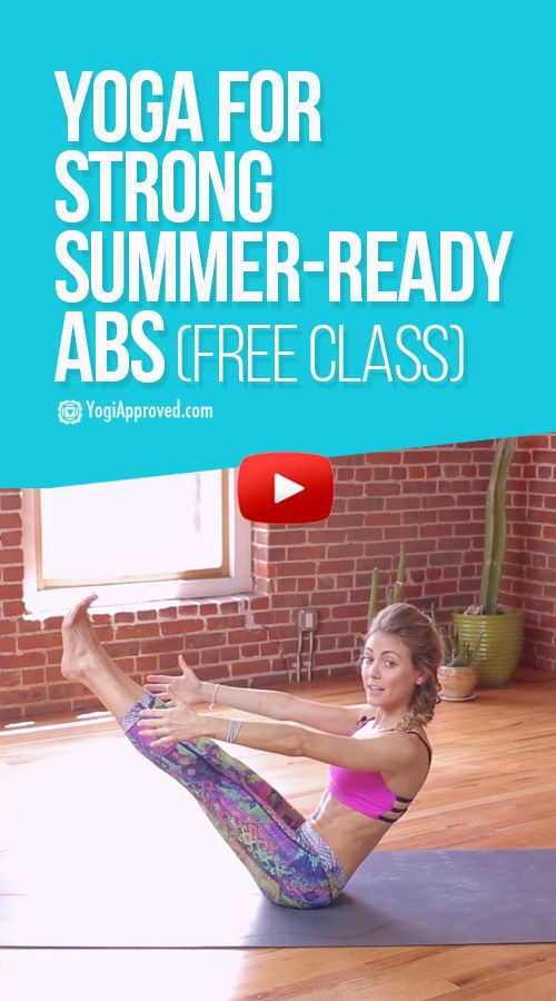 FREE YOGA CLASS 13 Minutes to Strong Core and Summer-Ready Abs with Ashton Augus...