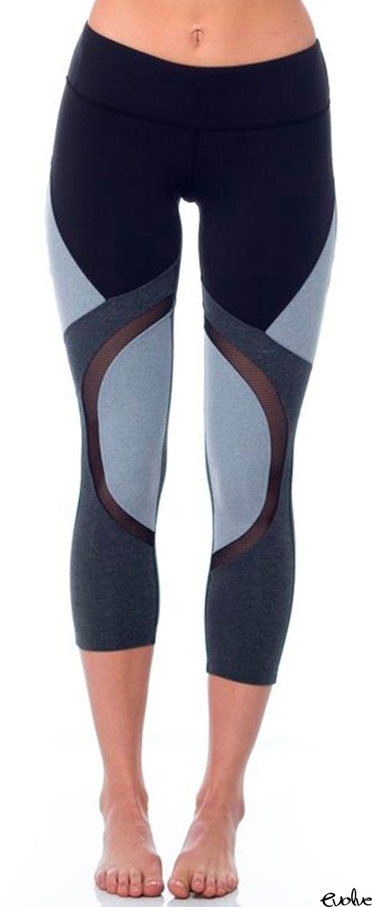 Ditch the solid colors for color block detailing with the Division Capri from Sp...