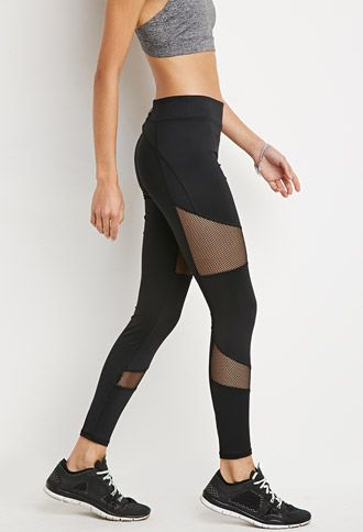 Mesh Insert Athletic Leggings | Forever 21 | Seriously love me some mesh cut-out...
