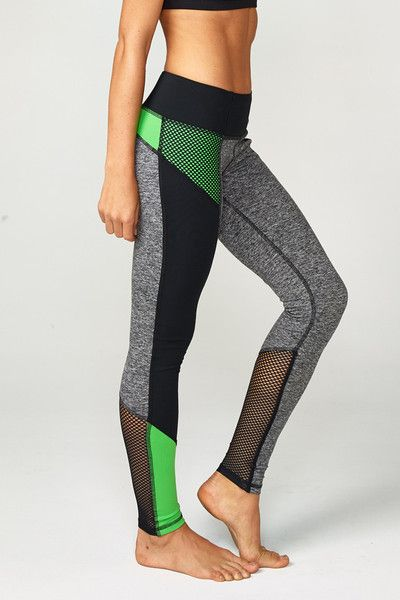 Our color blocked legging is a great way to add a pop of color to your workout w...