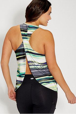 Plus Size Tank Top With Open Tulip Back, Maurices, $29   23 Plus-Size Gym Clothe...