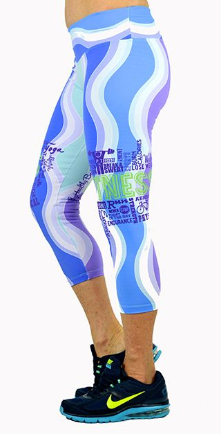Shape Up Blue Fitness Capri