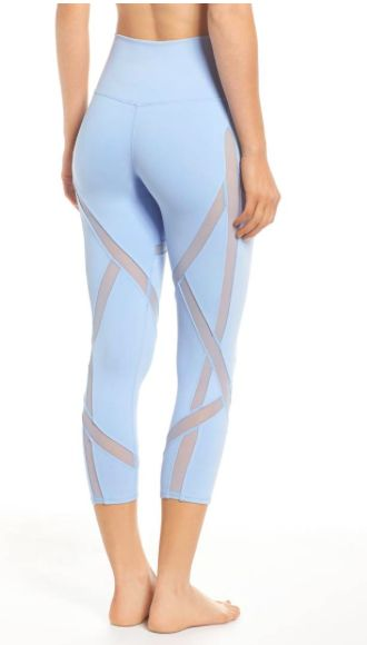 Need these leggings! Body-mapped mesh insets ventilate heat and create an edgy l...