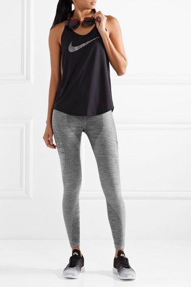 Nike - Power Sculpt Dri-fit Stretch Leggings - Gray