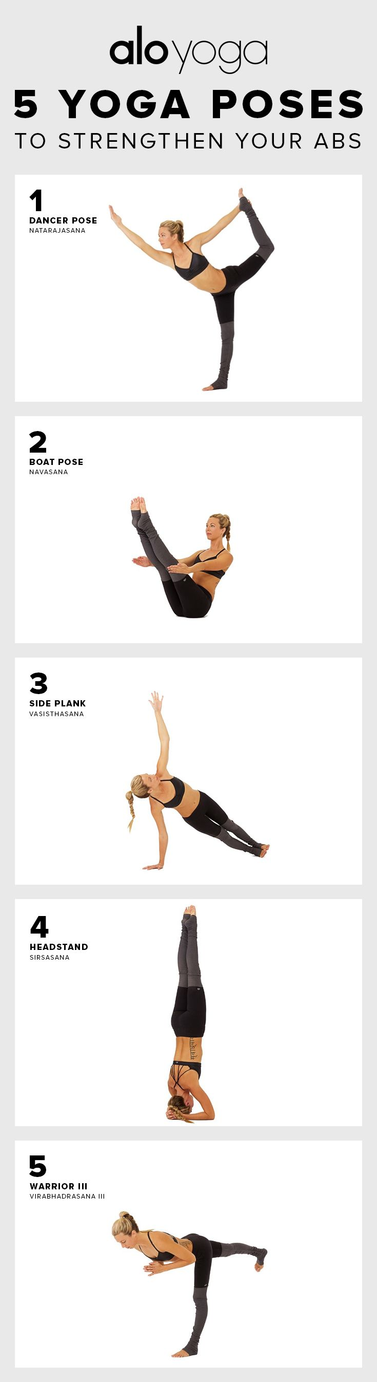 5 #Yoga Poses to help strengthen your #abs #aloyoga #fitness
