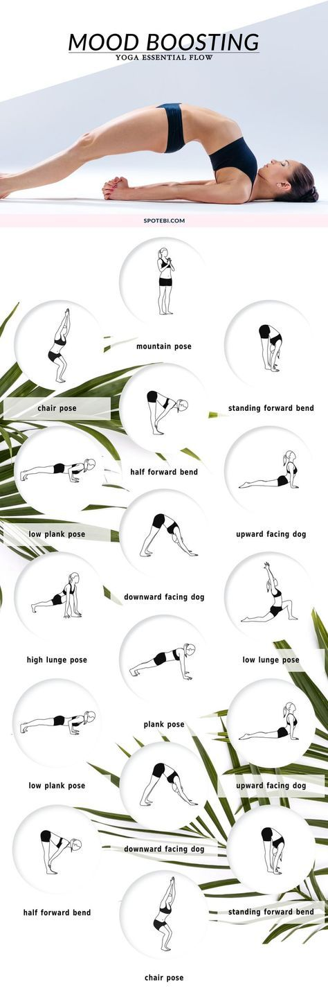 Beat stress and get happy with these mood-boosting yoga poses. A 16 minute essen...