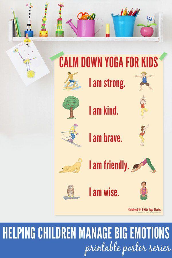 Calm Down Yoga for Kids Printable | by Kids Yoga Stories on Childhood101