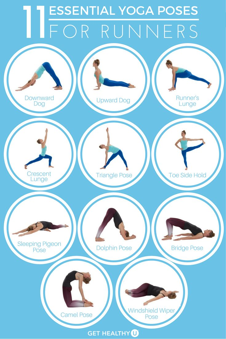 Check out our article featuring the 11 most essential yoga poses for runners! #r...
