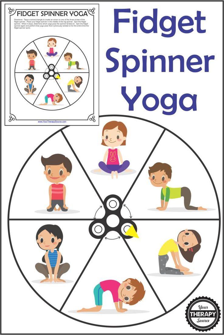 Fidget Spinner Yoga – FREE Printable
