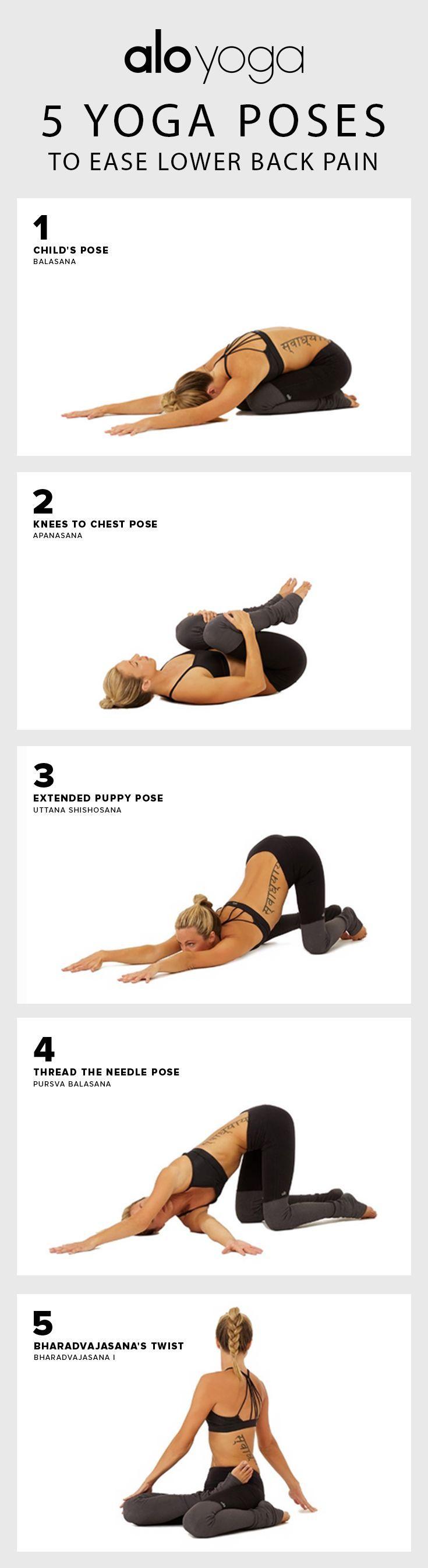 nice 5 Yoga Poses to Ease Lower Back Pain #yoga #yogaposes #backpain...