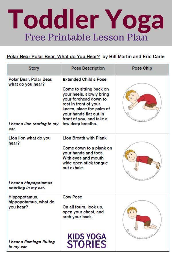 Polar Bear, Polar Bear, What Do You Hear? Toddler Yoga Lesson Plan | Kids Yoga S...