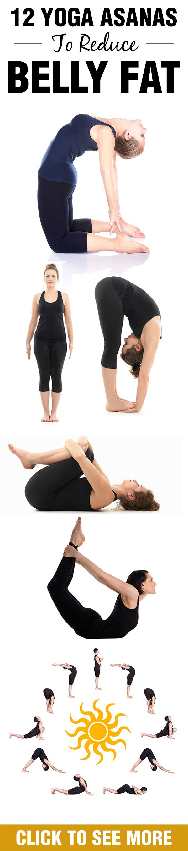 Take a short walk through these ten best yoga asanas to reduce belly fat and bec...
