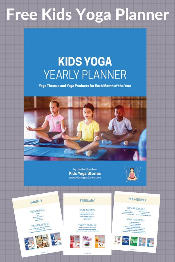 The Ultimate Kids Yoga Planner 2018 - download for easy reference for your yearl...