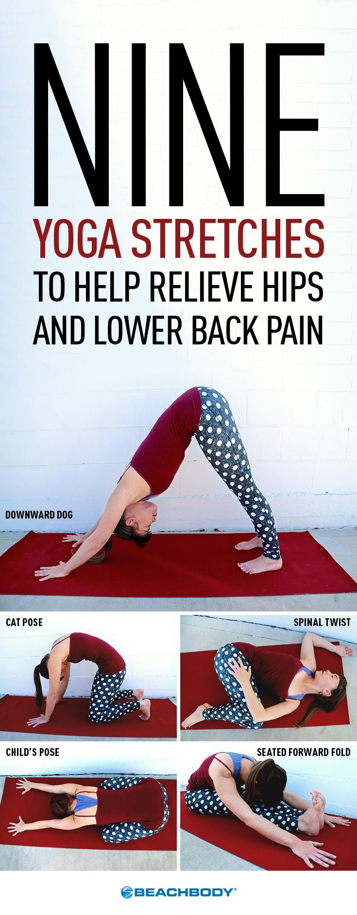 These nine gentle stretches can help relieve hip and lower back pain by stretchi...