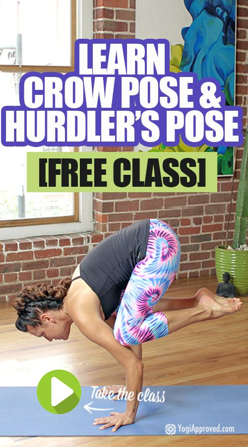 Arm Balance Tutorial: Learn Crow Pose and Hurdler's Pose (Free Class)