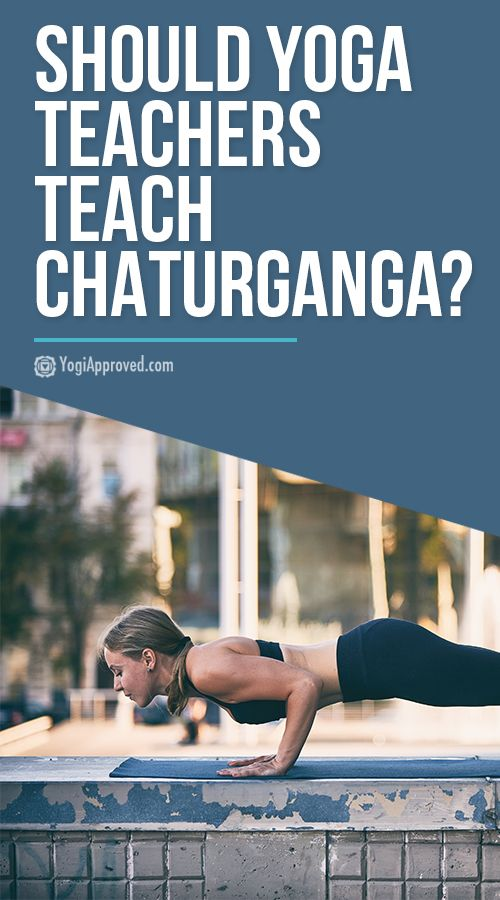 Chaturanga is a way more challenging and advanced yoga pose than you would expec...