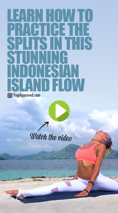 Learn How to Practice the Splits in This Stunning Indonesian Island Flow (Video)