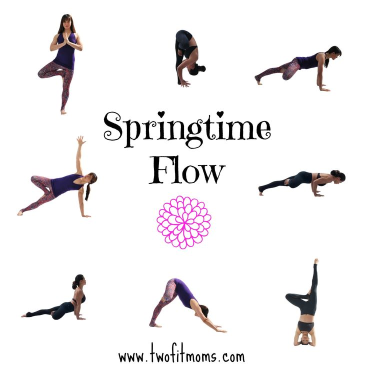 Two Fit Moms' Spring Time Flow -- a variation on a traditional Sun Salutatio...