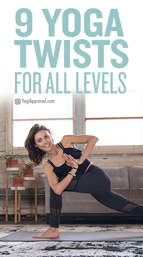 Yoga twists are fun to practice and great for your body. They nourish your spine...