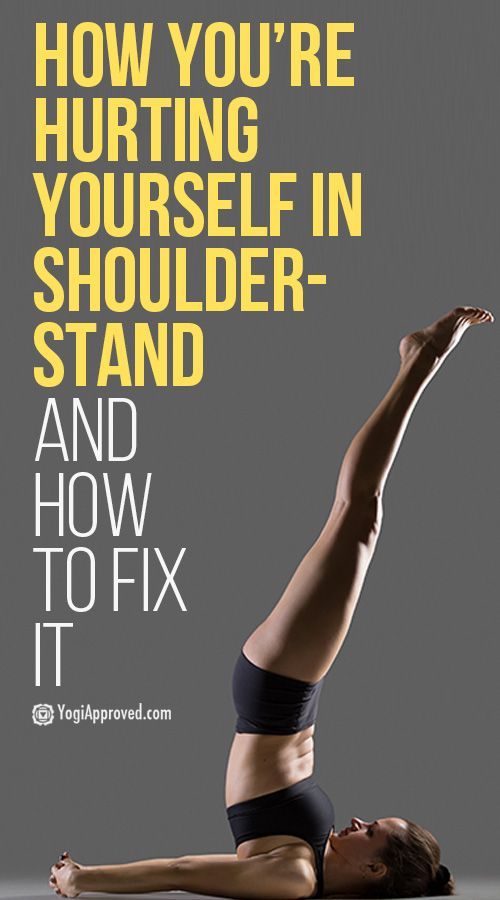 You May Be Hurting Your Neck in Shoulderstand (Here's How to Fix It)
