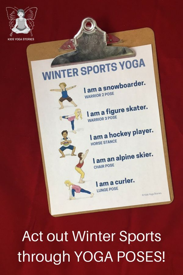 Winter Olympics Yoga: Bring winter sports to your home, studio, or classroom - b...