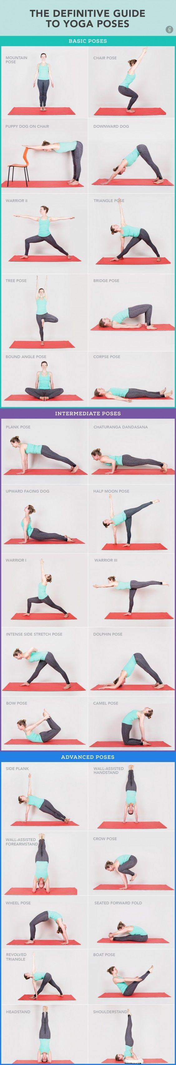 ☆ YOGA POSES ☆:  30 Yoga Poses You Really Need To Know.