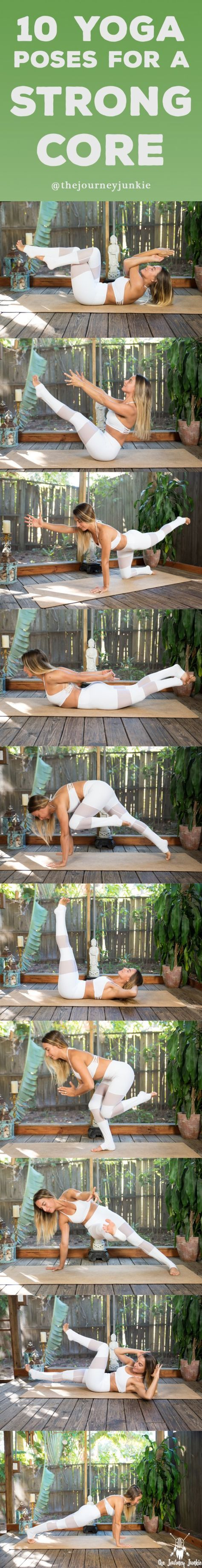 10 Poses for a Strong & Powerful Core - Pin now, work on your core strength now.