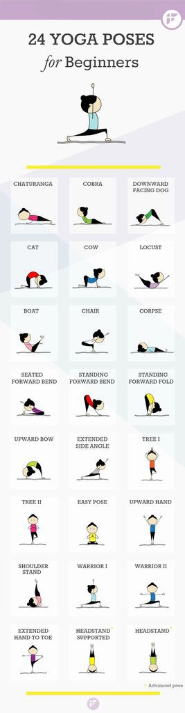 If you are a beginner you can try this 24 Yoga Poses for Beginners