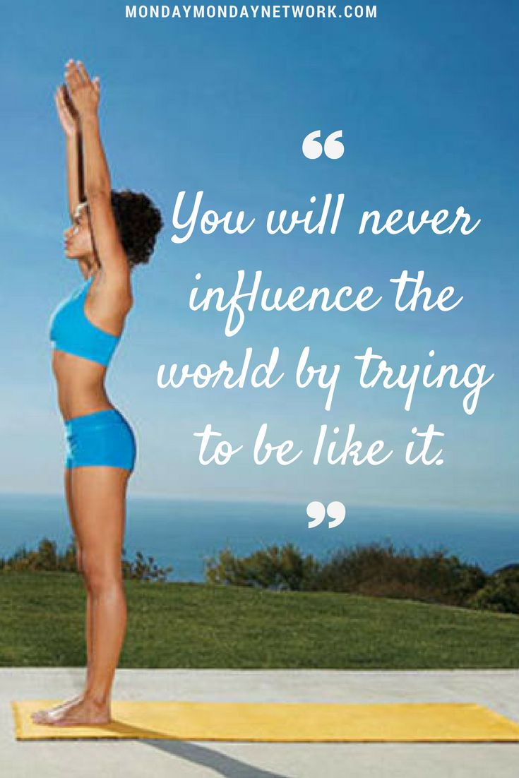 Just be who you are. Do not conform to the world, just to be accepted. #yoga #he...