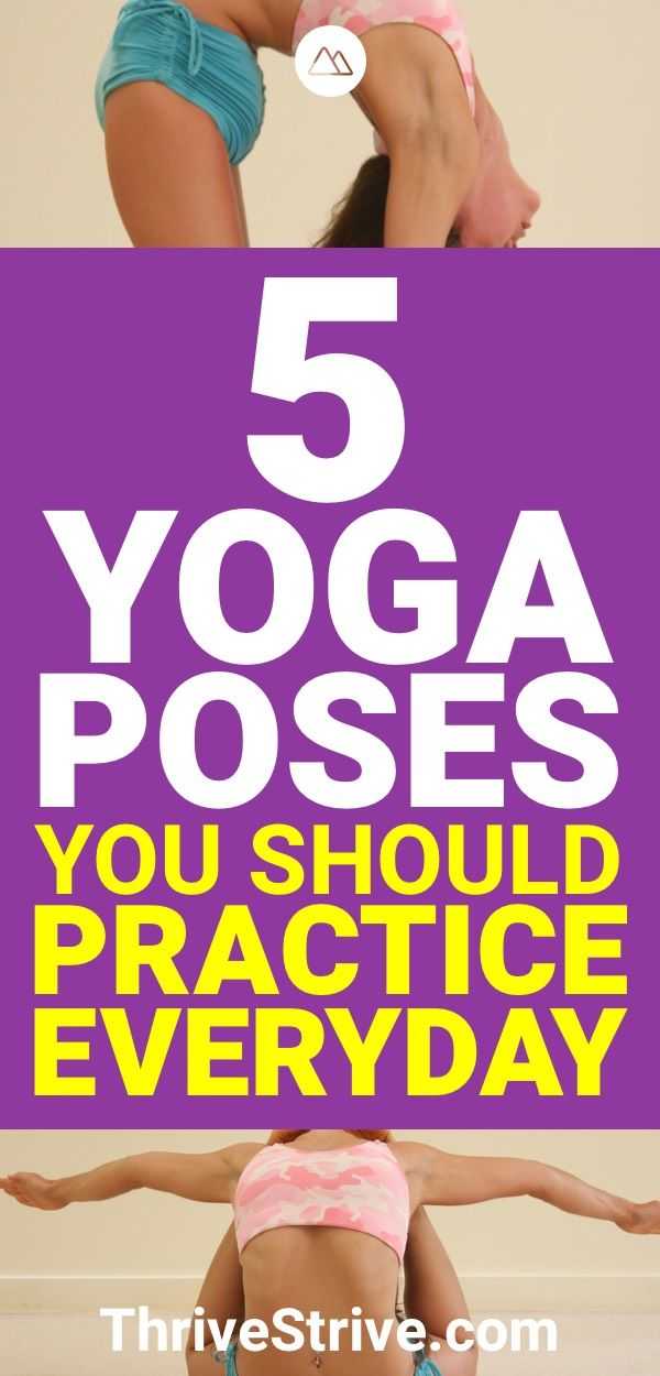The only way to get better at yoga is to practice it everyday. Here are 5 yoga p...