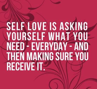 Been asking myself every morning what it is that I need...allowing myself to do ...