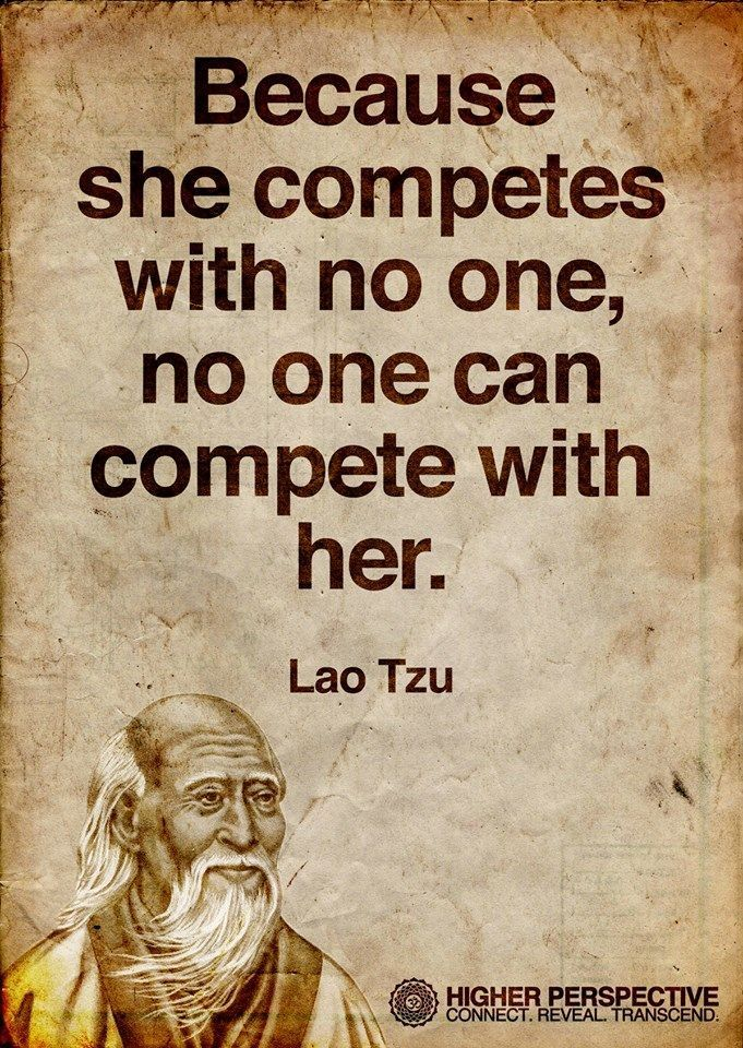 Compete with no one