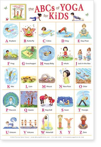 Healthy kids need all the activity they can get! The ABCs of Yoga for Kids Poste...