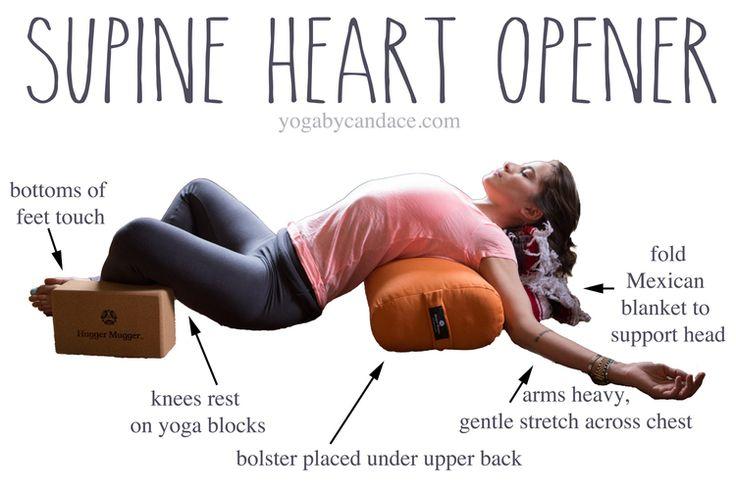 Heart opening yin pose. #yogatherapy