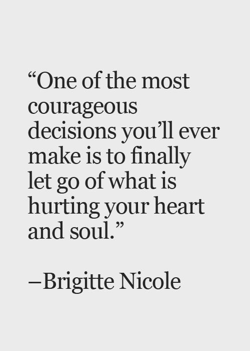 I can't just let stuff go. It takes me a while to build up the courage to sa...