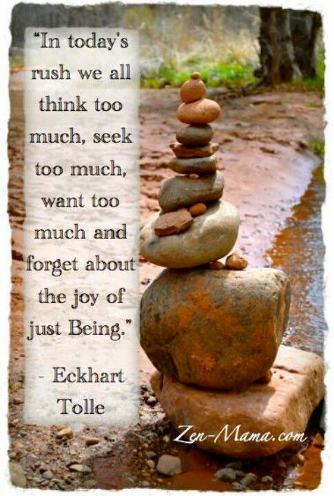 In todays rush, we all think too much, seek too much, want too much and forget a...