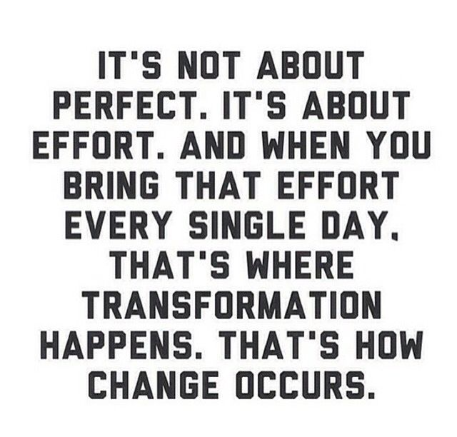 It's not about perfect.