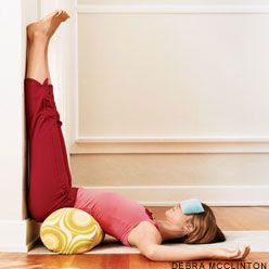 Legs Up The Wall Pose - if you can't do anything, at least do this. Great fo...