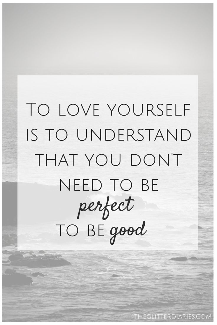 Loving yourself is SO important because it allows you to look at yourself as imp...