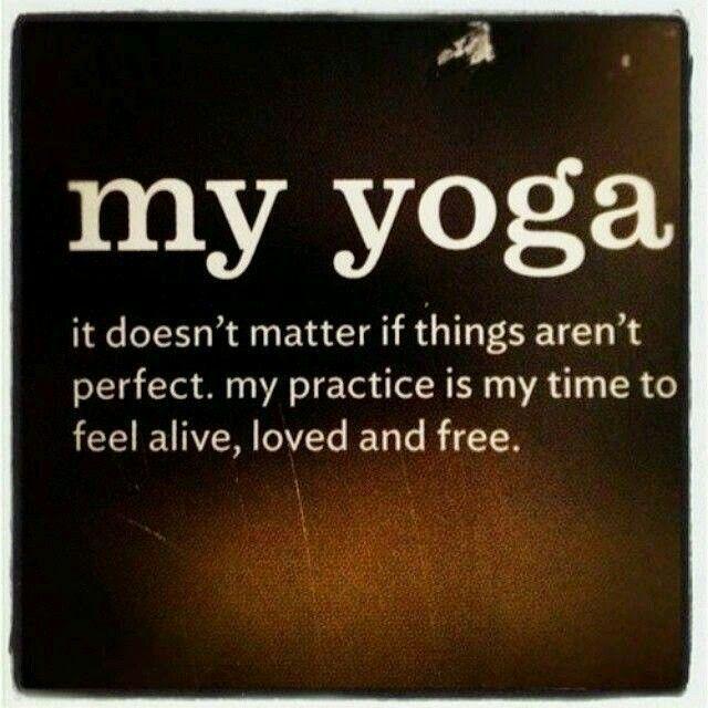 My yoga quote