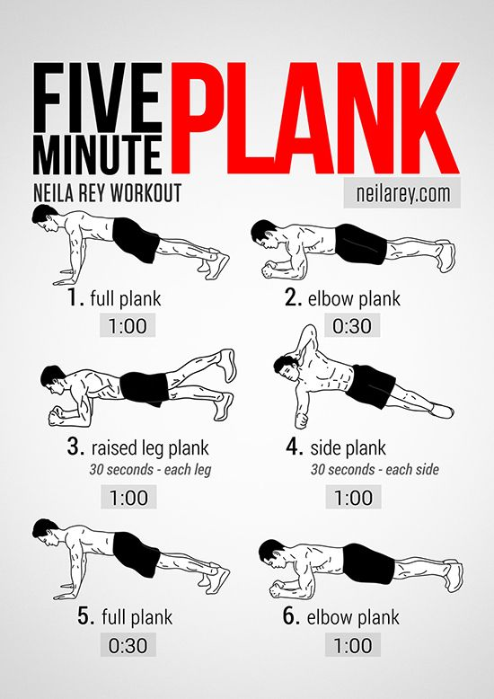 Neila Rey's Five Minute Plank Workout...I'm not sure I could make it thr...