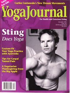 Sting on the cover of Yoga Journal magazine 1995. He looked pretty freeking grea...