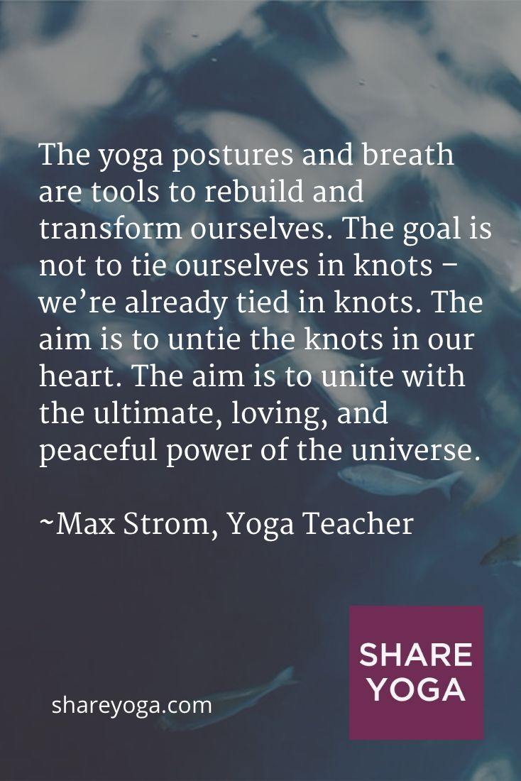 The yoga postures and breath are tools to rebuild and transform ourselves. The g...