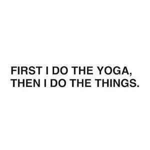Yoga first
