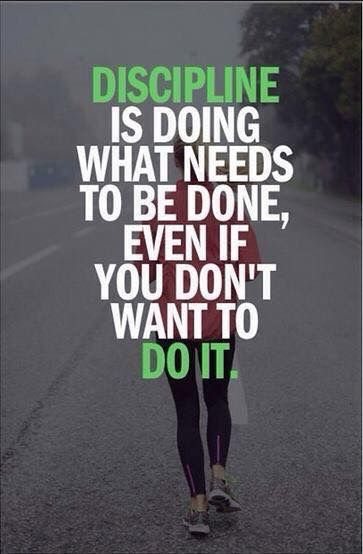 #discipline #motivation