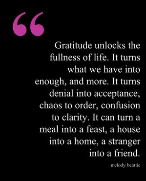 hold tight to gratitude especially during the times when you feel you have lost ...