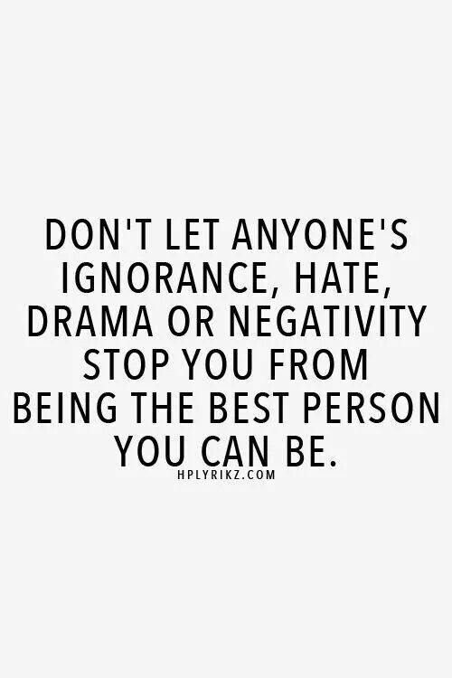 some people seem to always be hating...dogging...and carrying around negative vi...