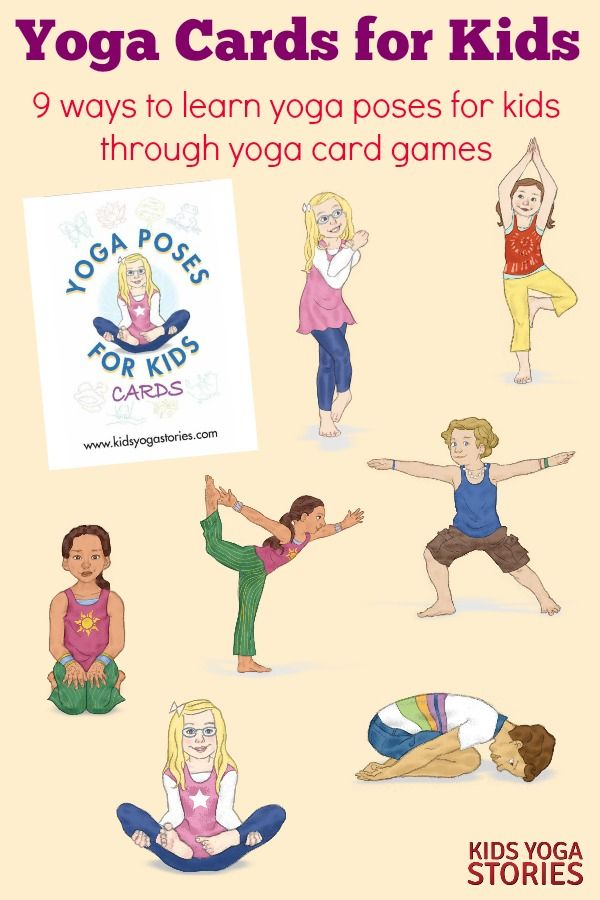 Yoga Poses Yoga Cards For Kids 9 Ways To Learn Yoga Poses For Kids Through Yoga Card Games About Yoga Blog Home Of Yoga The Zen Way Of Teaching Yoga Online
